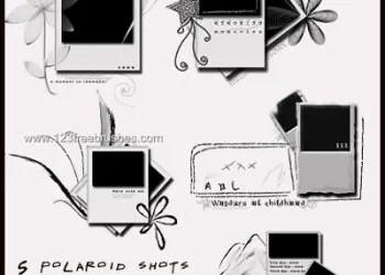 Polaroid Frames Set 2