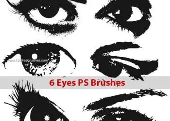 Eyes Photoshop Brush Set