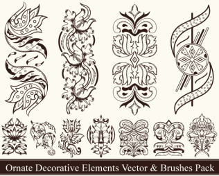 Ornate Decorative Elements Vector Pack