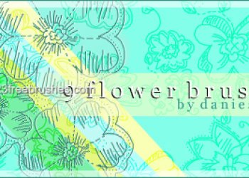 Flower Abstract Brushes