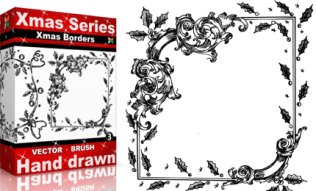 Xmas Series: Hand Drawn Xmas Borders