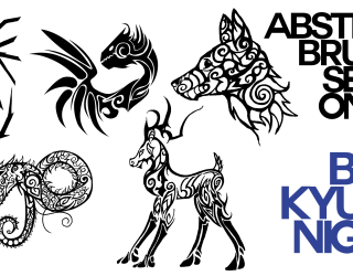Abstract Tribal Animals