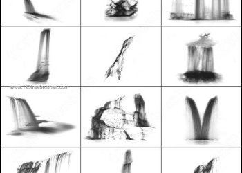 Waterfall Brushes Photoshop Free Download