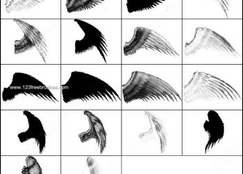 Free Angel Wings Photoshop Brush Set