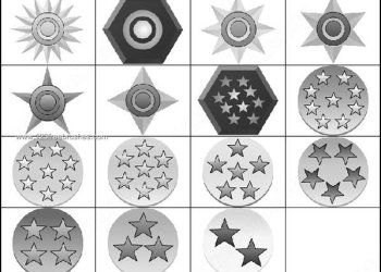 Medal Shapes Photoshop Brushes