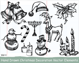 Xmas Series: Hand Drawn Xmas Elements