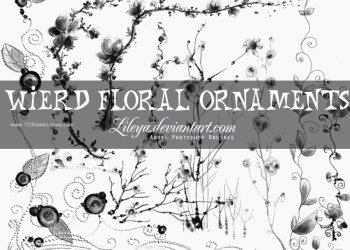 Wired Floral Ornaments