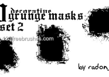 Grunge Masks Set