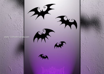 Bat Silhouette Photoshop Brushes