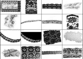 Fishnet Lace Texture Brushes Photoshop Free