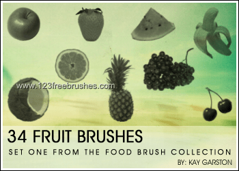 Fruits Collection –  Apple – Grape – Banana – Strawberry – Cherry – Watermelon