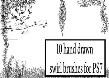 Hand Drawn Swirl Floral
