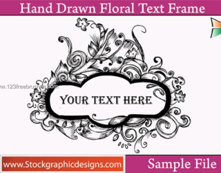 Hand Drawn Floral Text Frame Free Brushes