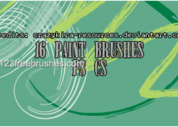 Paint Stroke Set 10