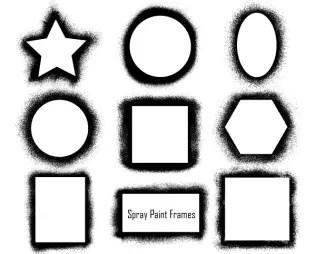 Spray Paint Frames Vector Pack