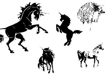Unicorn Silhouettes