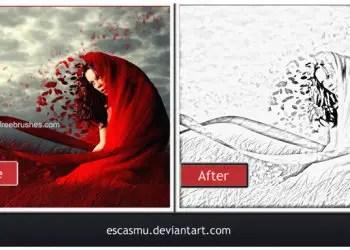 Charcoal Photoshop Actions