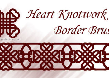 Heart Knotwork Border