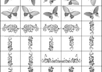 Butterfly and Decorative Flower Brushes Free