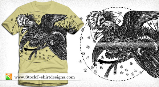 Tee Vector T-shirt Design with Bird