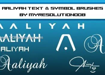 Aaliyah Text Symbol