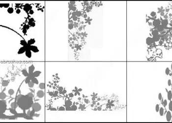 Flower Vines Brushes Photoshop