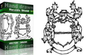 Heraldic Series : Hand Drawn Shield Vol.1