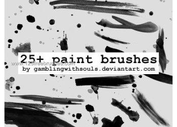 265 Paint Stroke Brushes | Photoshop Free Download