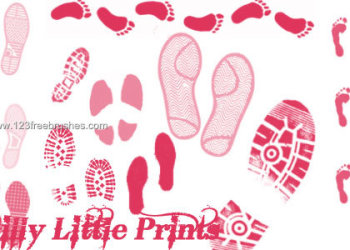 Shoe Print and Footprints