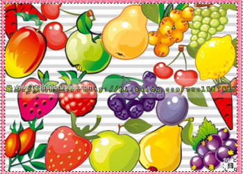 Strawberry – Cherry – Pear – Grapes – Mango and  Apple Fruits