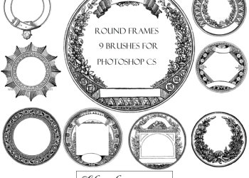 Vintage Round Frames
