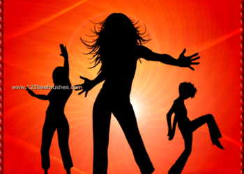Female Dancing Silhouettes