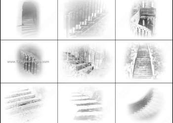 Upstairs Downstairs Brushes for Photoshop