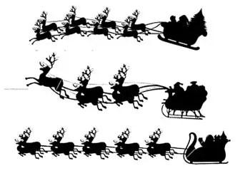 Santa Claus Sleigh Christmas