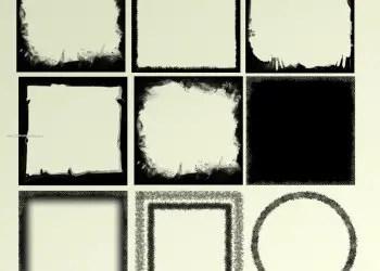 Grunge Frames Set 8
