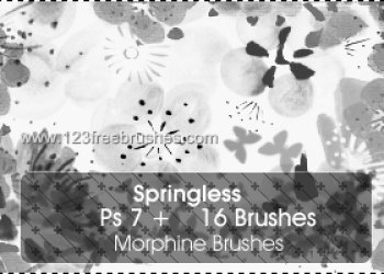 Flower Brushes Photoshop Cs3