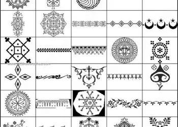 Free Henna Decorative Brushes Photoshop