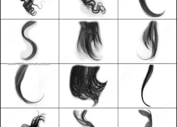Curly Hair Brushes Photoshop