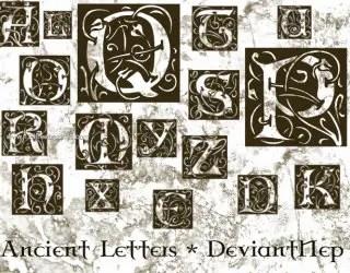 Ancient Alphabet Letters
