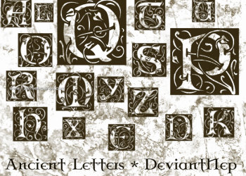 Ancient Alphabet Letters