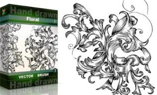 Hand Drawn Floral Set.3 | Vol : 3