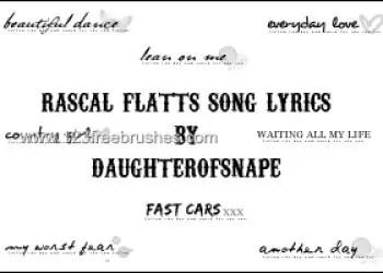 Rascal Flatts Song Lyrics