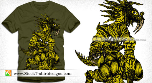 vector Demon Animal T-shirt Graphics Design