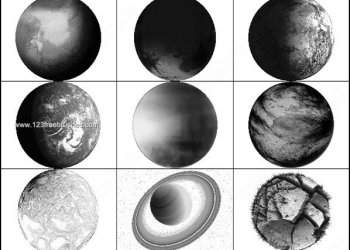 Planet – Space – Moon – Earth – Galaxy Photoshop Brushes