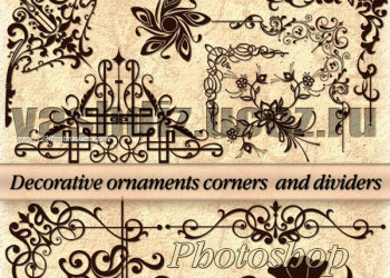 Decorative Ornaments Corners Dividers