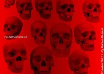 Scary Vampire Skull