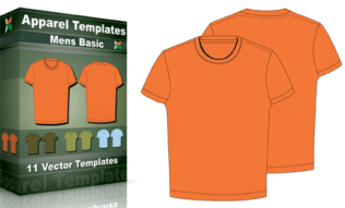 T-Shirt Templates : MenÆs Basic