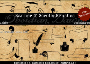 Antique Banners Scrolls