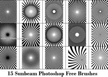 Sun Rays Free Photoshop Brushes