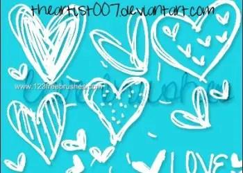 Cute Scribble Hearts